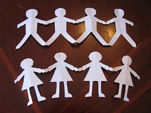 Pics Photos - Paper Chain This Chain Of Cute Dolls Is Fun To Make And ...